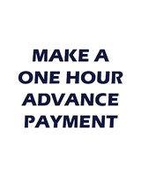 Make an advance payment on a one hour session